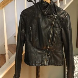 Free People, Faux Leather Jacket